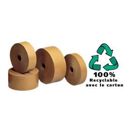 Adhésif bande papier gommée kraft 60g/m2 - 40 mm x 200 m