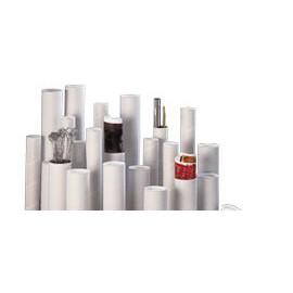 Tube blanc à bouchons plastiques 60 x 640 mm - Poid 96 g - Epaisseur 1.35 mm