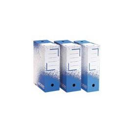 Boîte archive blanc/bleu dos de 10 cm 24 x 32 x 10 cm