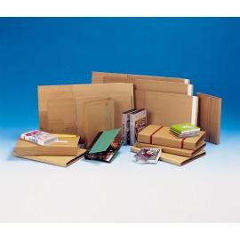 Etui postal top pac standard pc10kraft 24 x 18 cm avec adhésif - Hauteur variable 1 à 5 cm