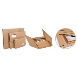 Etui postal spécial cadres - pac cadre dd30kraft 42 x 34 cm - Hauteur variable 1 à 7 cm