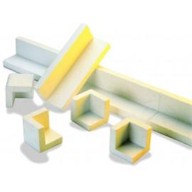 Cornière polystyrène 20 mm 1200 x 80 x 80 mm --- le sac de 105