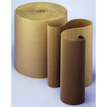 Carton ondulé simple face résistant 450g/m2 - 120 cm x 50 m