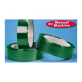 Feuillard polyester colori vert 12.5 x 0.64 mm x 2000 m