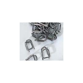 Boucles acier 19 mm pour feuillard textile - Carton de 500