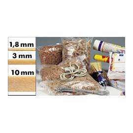 Bracelet caoutchouc parablond 120 x 1.8 mm - Sac 1 kg - 1410