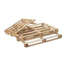 Palette bois d°expédition légère - 7 planches, 40 mm - 100 x 120 cm