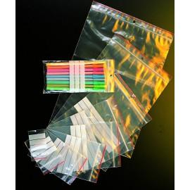 Sachet ecoclip bande blanche pebd 50 my 4 x 6 cm - Carton de 1000