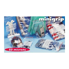 Sachet minigrip bande blanche pebd 60 my 8 x 12 cm - Carton de 1000