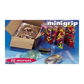 Sachet minigrip neutre pebd 60 my 5 x 18 cm - Carton de 1000