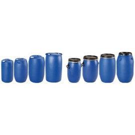 Fut plastique à ouverture totale 225 litres 595 x 1000 mm