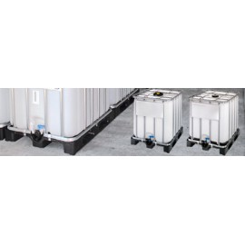 Conteneur IBC homologué y 1.9 1000 litres en polyéthylène Haute Densité (HDPE) - 120 x 100 x 116.5 cm