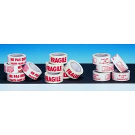 1000 Etiquettes imprimées TRES FRAGILE - 120 x 50 mm