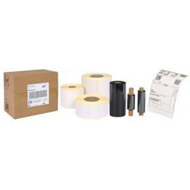 Rouleau 2400 étiquettes transfert thermique - Mandrin 40 mm - Ø extérieur 110 mm - 55 x 35 mm