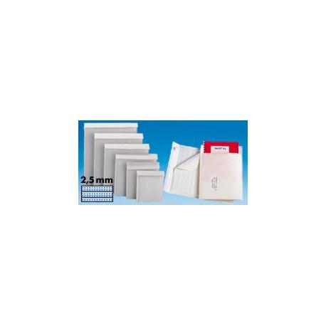 Pochette matelassée mousse blanche - 72 g/m2 - 7 g - 11 x 16 cm - Colis de 100