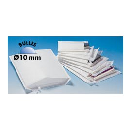 Pochette matelassée bulles blanche de 10mm - 11 x 16 cm - Colis de 100