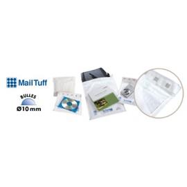 Pochette plastique bulles blanche - 92 g/m2 - 19 g - 15 x 21 cm - Colis de 100