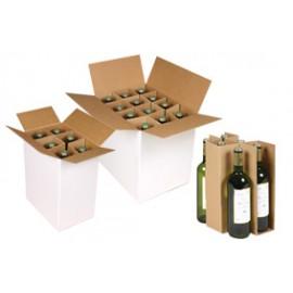 Croisillons carton 6 bouteilles MC20kraft 686 x 399 mm