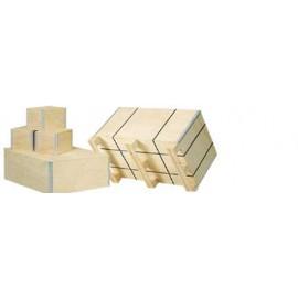 Caisse bois contreplaqué - 5 mm / 3 plis - 29 x 19 x 16,6 cm