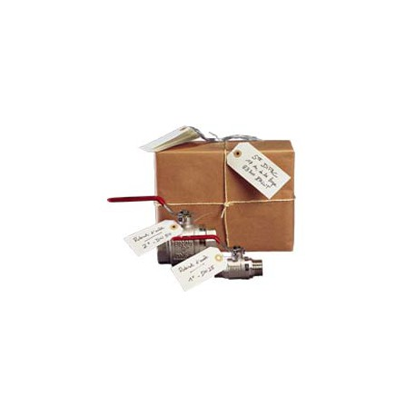 Etiquette américaine œillet + fil de fer 100 x 51 mm - Colis de 1000