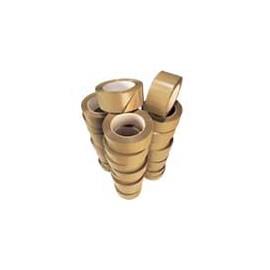 Lot de 12 rouleaux adhésifs PVC havane 35my classique - 50 mm x 100 m