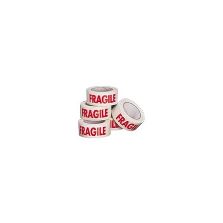 Lot de 12 rouleaux adhésifs PVC blanc fragile - 50 mm x 100 m