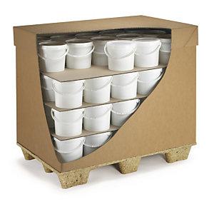 plaque carton-tranport-calage-caisses-pots-bouteilles-palettes-protections-anti chocs-separation-cardon ondulé-cannelures